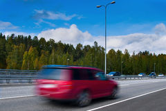 Car on highway Royalty Free Stock Photos