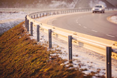The car on highway Stock Image