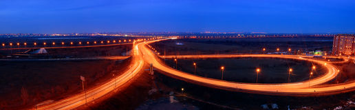 Car highway near the Bataiysk. Russia. Royalty Free Stock Image