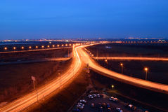 Car highway near the town Bataiysk. Russia. Rostov region Stock Photography