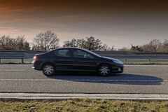 Car on highway Stock Image