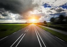 Car Highway Stock Images
