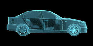 Car Hologram Wireframe Royalty Free Stock Images