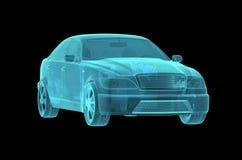 Car Hologram Wireframe Stock Image