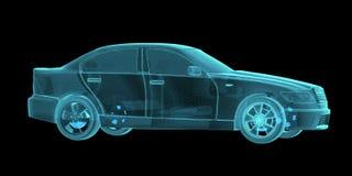 Car Hologram Wireframe Royalty Free Stock Image