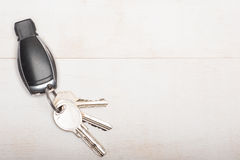 Car and home keys royalty free stock photography