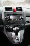 The car Honda CR-V. Gearshift Royalty Free Stock Photography