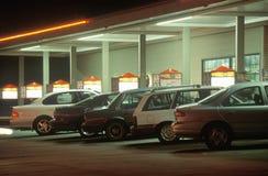 Car hop hamburger stand. Car parked on hop hamburger stand Royalty Free Stock Images