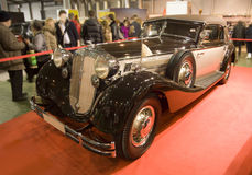 Car horch 853 legend luxury audi. Handmade elegant saxony Royalty Free Stock Image