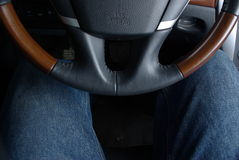 Car horn and legs Royalty Free Stock Images