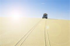 Car in hot desert Royalty Free Stock Photos