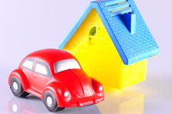 Car and house Stock Images