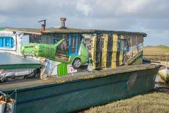Car House Boat Royalty Free Stock Photos