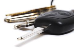Car and house keys. On a white background Royalty Free Stock Images
