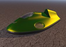 Car hovercraft picture 4. Car on an air cushion Stock Image