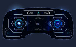 Car HUD Dashboard. Abstract virtual graphic touch user interface. Futuristic user interface HUD. Car HUD Dashboard. Abstract virtual graphic touch user interface Stock Image
