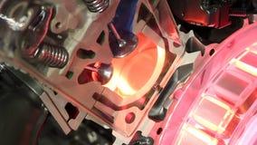 Car hybrid engine stock footage