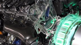 Car hybrid engine stock video footage