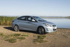 Car Hyundai Accent. Royalty Free Stock Photo