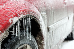 Car in ice Royalty Free Stock Photos