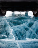 Car on ice Stock Photography