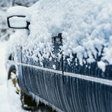 Car during icing Stock Images