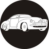 Car icon. Black and white Stock Photography