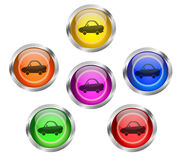 Car Icon Button Stock Images