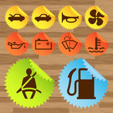 Car icon button set stickers Stock Image
