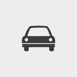 Car icon in a flat design in black color. Vector illustration eps10 Stock Photo