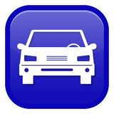 Car icon. Front view royalty free stock photography