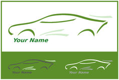Car Icon in Green for Logo Design Stock Photos