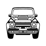 Car icon. Isolated on white background. Royalty Free Stock Photography