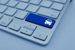 Free Car Icon On Modern Computer Keyboard Button, Business Service Ca Royalty Free Stock Images - 92338819