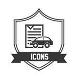 Car icon pictogram Royalty Free Stock Photo