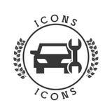 Car icon pictogram Stock Photography