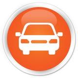 Car icon premium orange round button. Car icon isolated on premium orange round button abstract illustration stock illustration