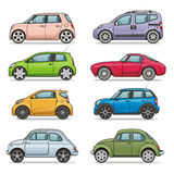 Car icon set Royalty Free Stock Photos