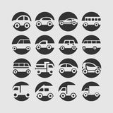 Car icon set stock images