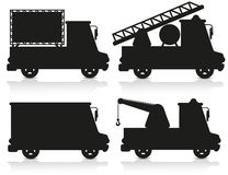Car icon set black silhouette vector illustration. Isolated on white background Stock Photo