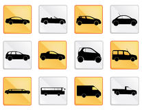Car icon set 1 Royalty Free Stock Photography