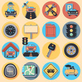 Car icon set Stock Photos