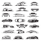 Car icon set royalty free illustration