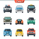 Car icon set 1. Vector cars. Flat illustrations Stock Photos