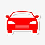Car icon sticker Royalty Free Stock Images