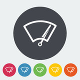 Car icon wiper. Car wiper. Single flat icon on the circle. Vector illustration Stock Images