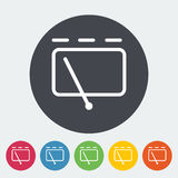 Car icon wiper. Car. Single flat icon on the circle. Vector illustration Royalty Free Stock Photography