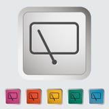 Car icon wiper. Vector illustration Stock Photo