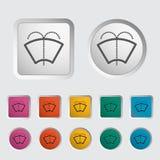 Car icon wiper. Vector illustration Stock Image
