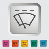 Car icon wiper. Royalty Free Stock Image